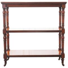 English 19th Century Mahogany Tea Trolley