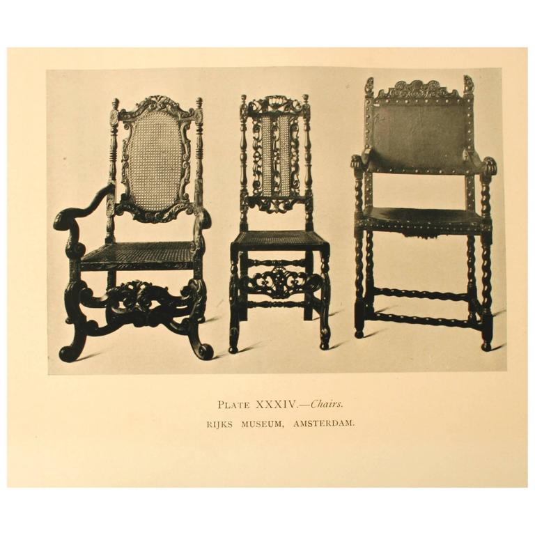 Dutch and Flemish Furniture by Esther Singleton. New York: The McClure Company, 1907. First edition hardcover, 338 pp. A history of the decorative arts in the Dutch and Flemish regions of Europe from the Middle Ages to the 19th century. It tells of