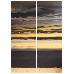 Sun Set Sky, Painted Panel Series