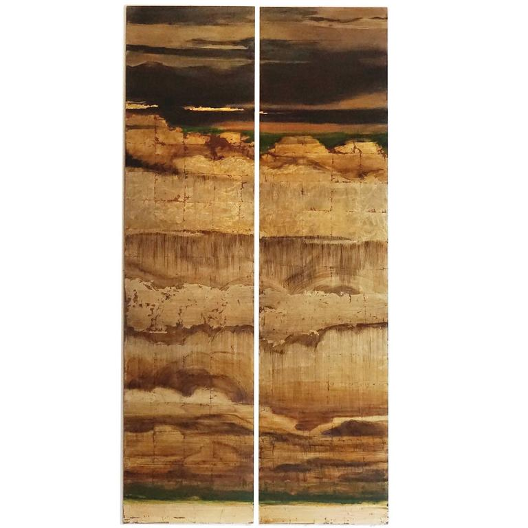 Golden Sky, Painted Panel Series