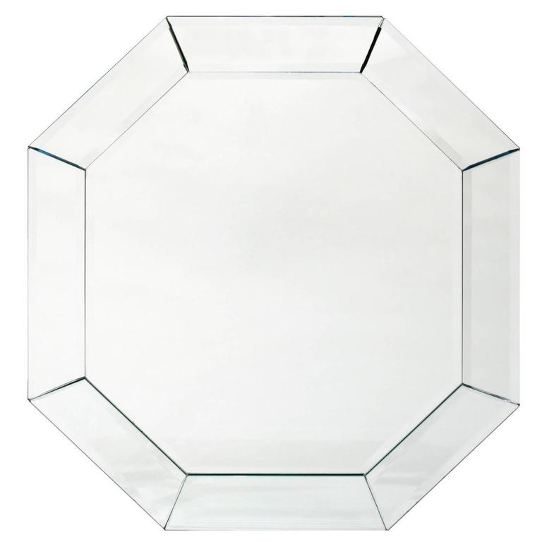 Elegant Eight-Sided Mirror with Bevel, 1960s