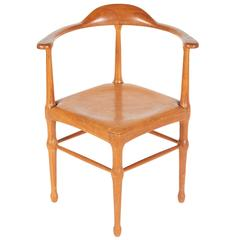 Vintage Model of Danish Mid-Century Corner Chair