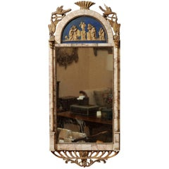 Early 19th Century Spanish Marble Mounted and Parcel-Gilt Mirror
