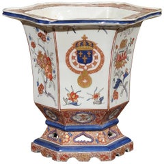 19th Century English Samson Jardinière, Chinese Export Armorial Style