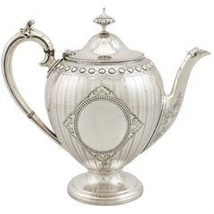 Antique Sterling Silver Teapot by Barnard & Sons Ltd, Victorian