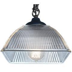 Unique Square Dome Holophane Pendants