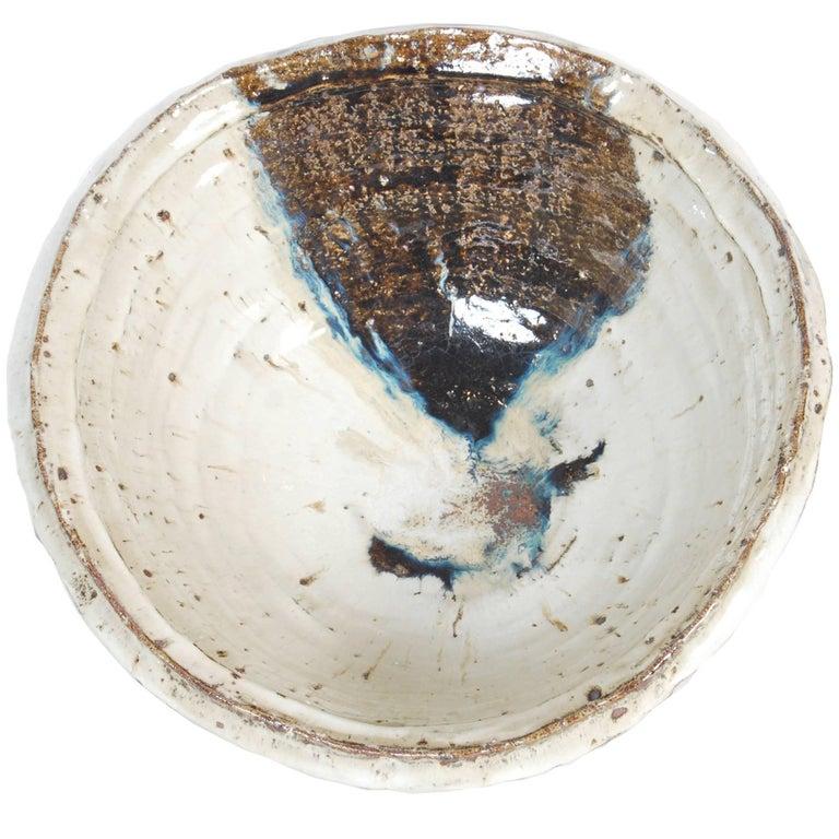 Large Japanese Stoneware Bowl by Maruta Munehiko For Sale