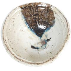 Large Japanese Stoneware Bowl by Maruta Munehiko