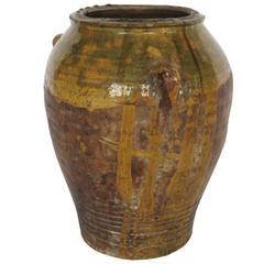 19th Century Glazed Honey Terracotta Pot