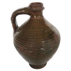 19th Century Glazed Wine Pitcher