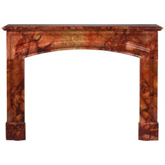 """Louis XIV Style """"Bollection"""" Fireplace in Algerian Breccia Marble, 19th Century"""