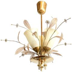 "Paavo Tynell 9029/3 ""Bridal Bouquet"" Chandelier for Taito Oy"