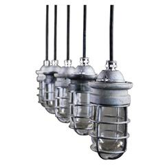 1940 Industrial Pendant Lights