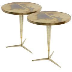 Pair of Italian Pedestal Tables