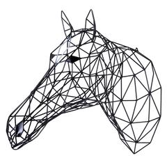 Black Horse Iron Sculpture