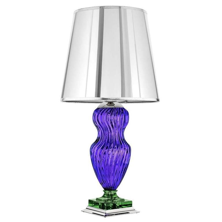 Tiepolo Lamp in Purple and Green