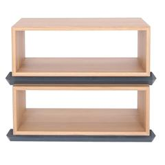 Stack Storage Two-Tier Wood Open Shelves