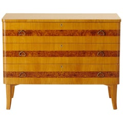 Swedish Art Moderne Dresser in Elm by Bodafors, circa 1940