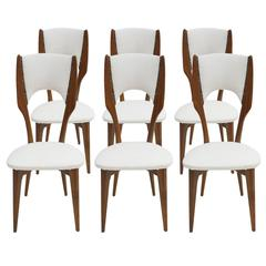 Set of Six Chairs Designed by Paolo Buffa
