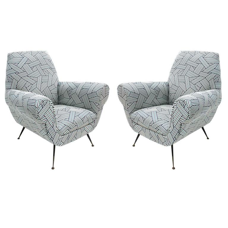 Pair of Armchairs Designed by Gigi Radice for Minotti