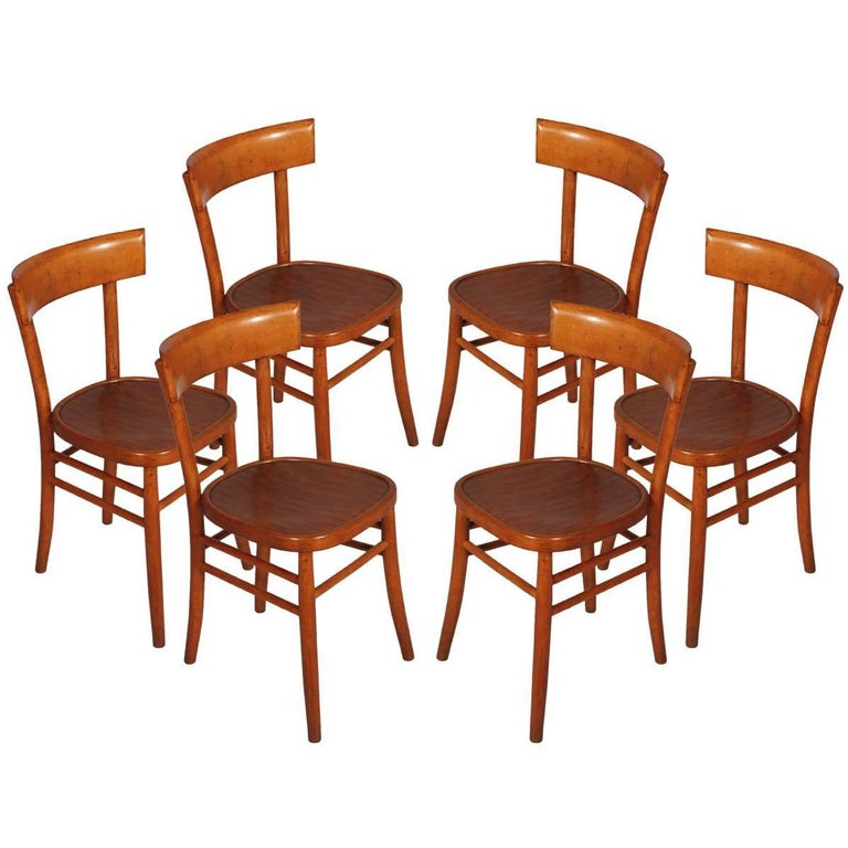 Mid-Century Modern Six Chairs, I.S.A. Bergamo For Sale