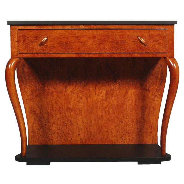 italian art deco gaetano borsani console blond walnut and. Black Bedroom Furniture Sets. Home Design Ideas