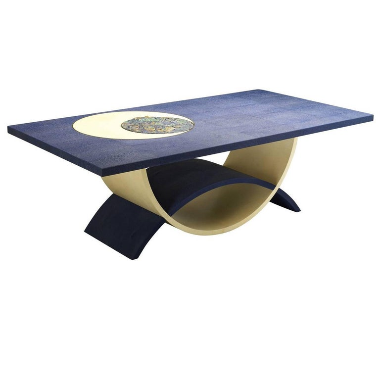 Blue Moon Coffee Table by Teresa Luni For Sale