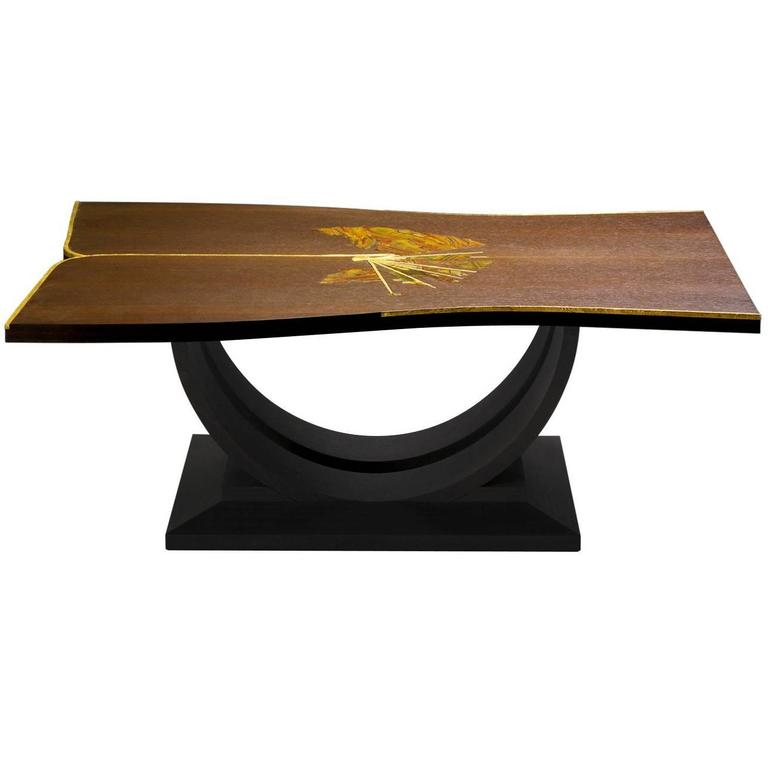 Exclusive Wood And Stone Coffee Table For Sale At 1stdibs