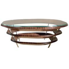 Unique Ebony Macassar Wood Coffee Table