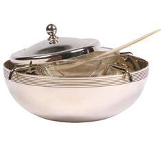 Neiman Marcus Silver-Plate Caviar Serving Dish