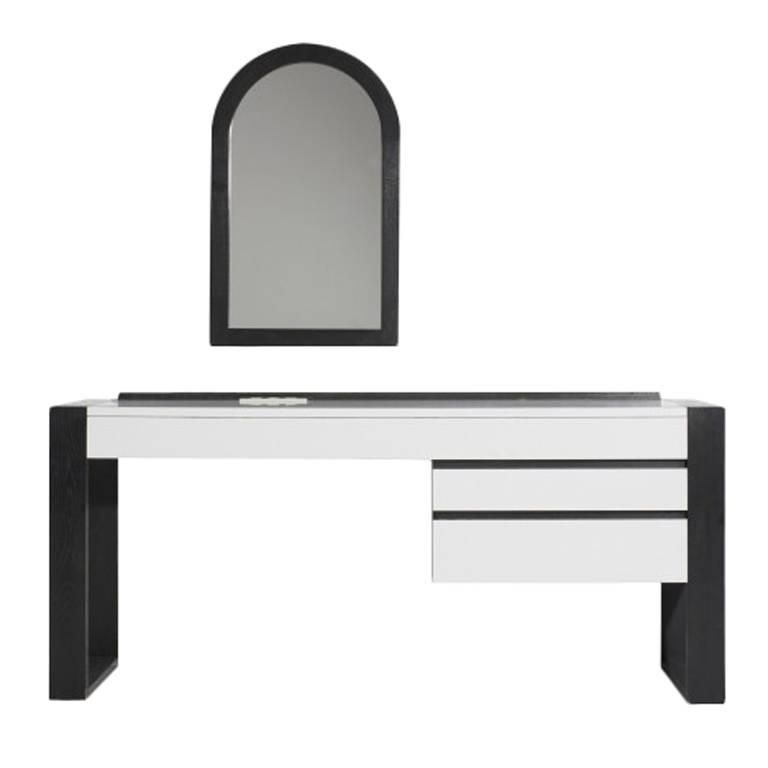Rare Shiro Kuramata Wall Mounted Desk And Mirror For
