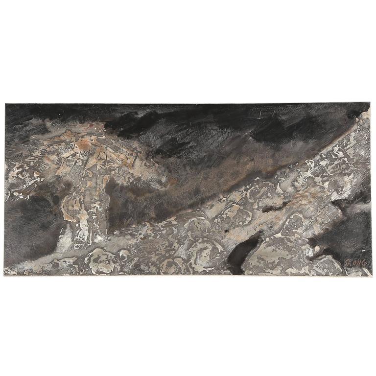 Large B Rje Skohg For Gustavsberg Ceramic Tile With Silver