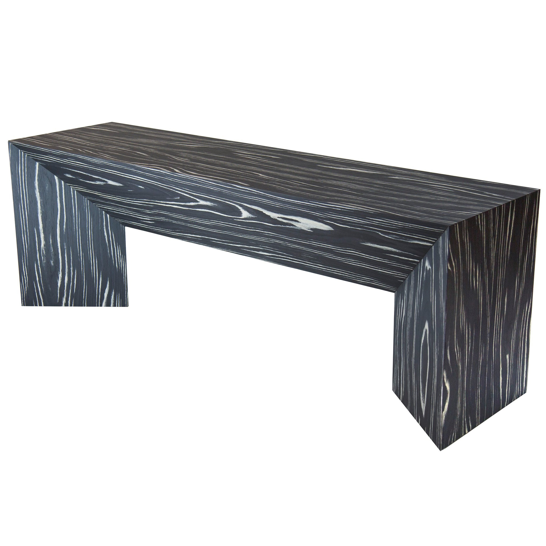 Contemporary Black And White Ecowood Veneer Fold Bench For Sale
