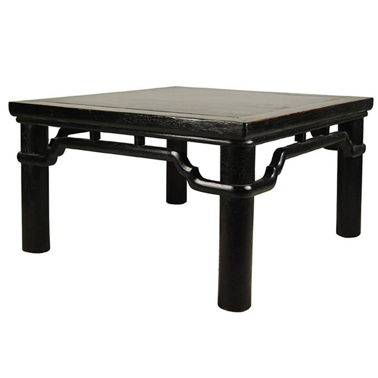Chinese Low Black Lacquer Table