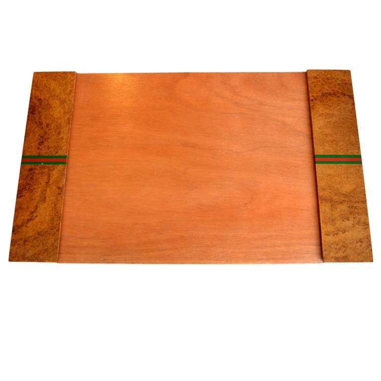 Gucci Burl Wood Desk Pad For