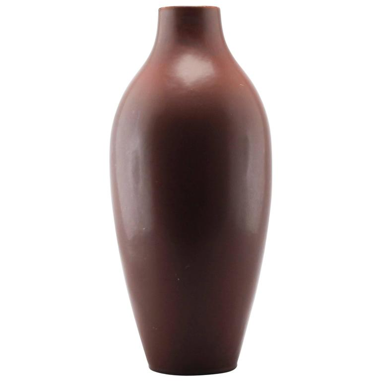Carl Harry Stålhane Large Stoneware Vase, Rörstrand, Sweden, 1950s For Sale
