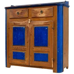 19th Century Swedish Rustic Painted Cupboard
