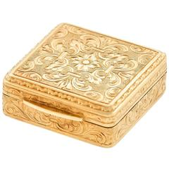 Art Deco Gold Pill Box