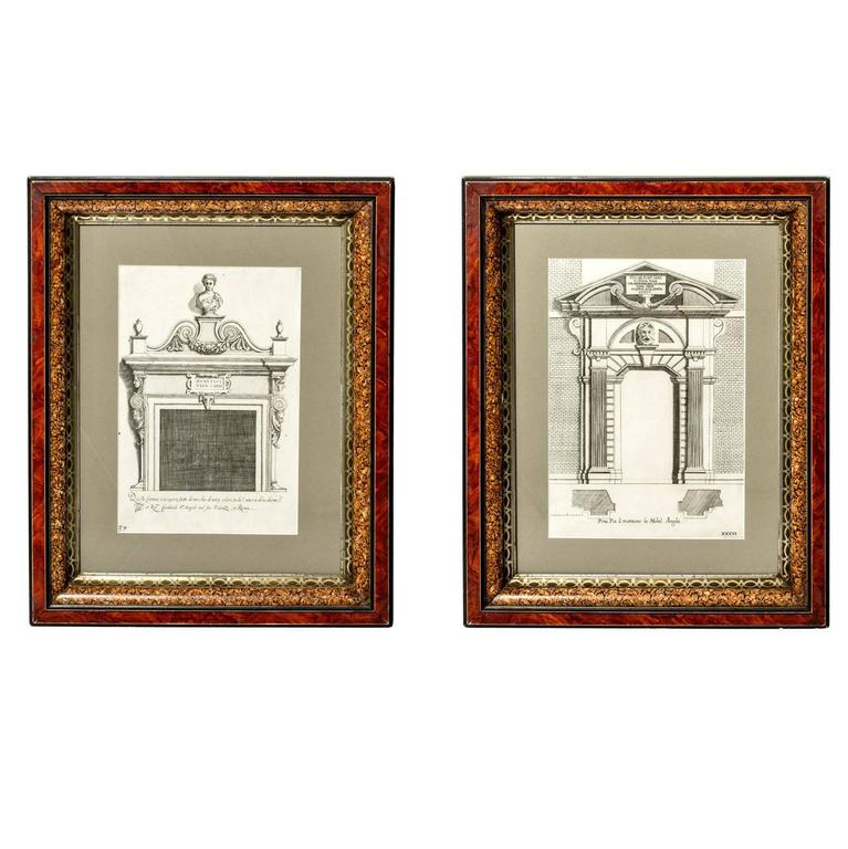 Framed Architectural Engravings