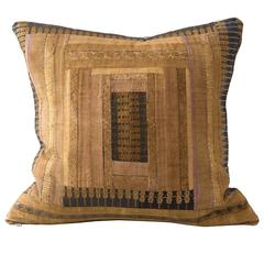 Huang Ping Miao Cushion- Bronze Silk Embroidered