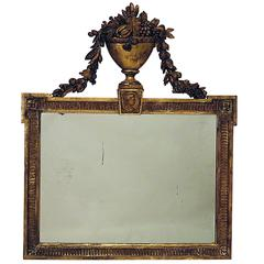 French Giltwood Overmantel Mirror, circa 1820