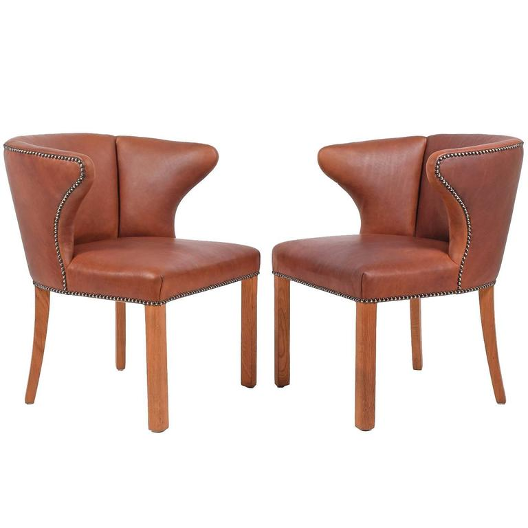 1940s Pair of Armchairs Attributed Frits Henningsen For Sale