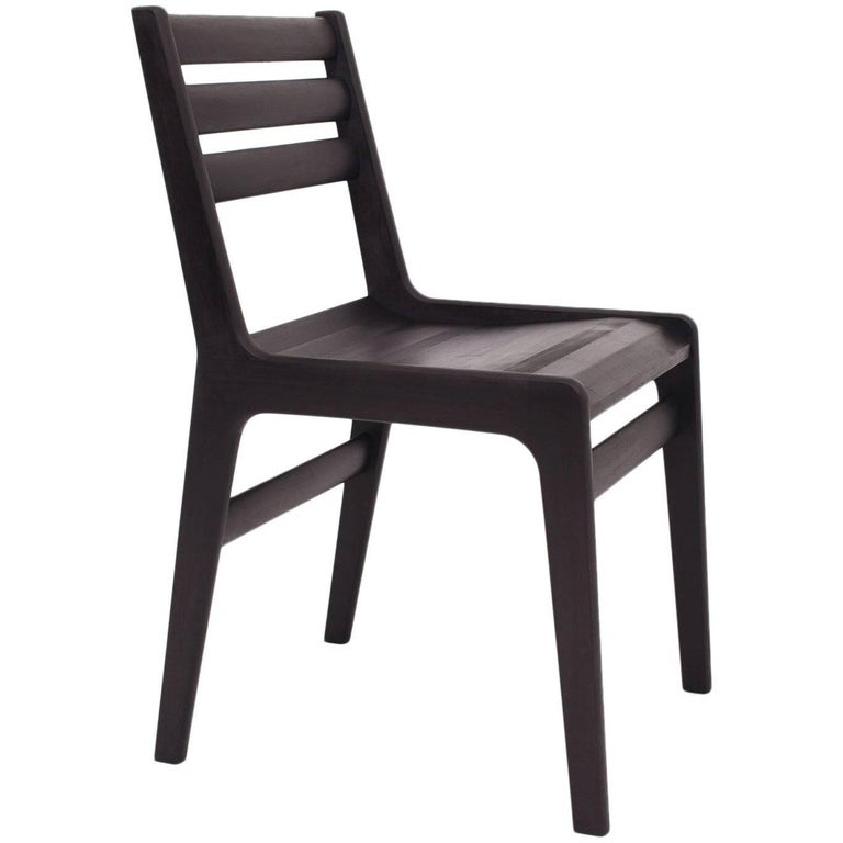 'Fenelon' Wood Chair in Ebonized Maple - Black For Sale