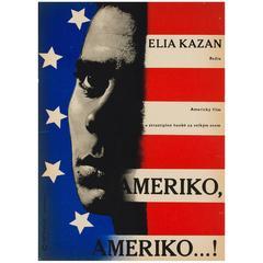 America America Original Czech Film Poster, Richard Fremund, 1965