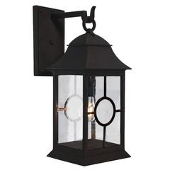 Exterior Wrought Iron Wall Lantern with Nautical Inspirations Holroyd Edition