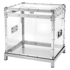 Flight Box in Polished Stainless Steel and Acrylic