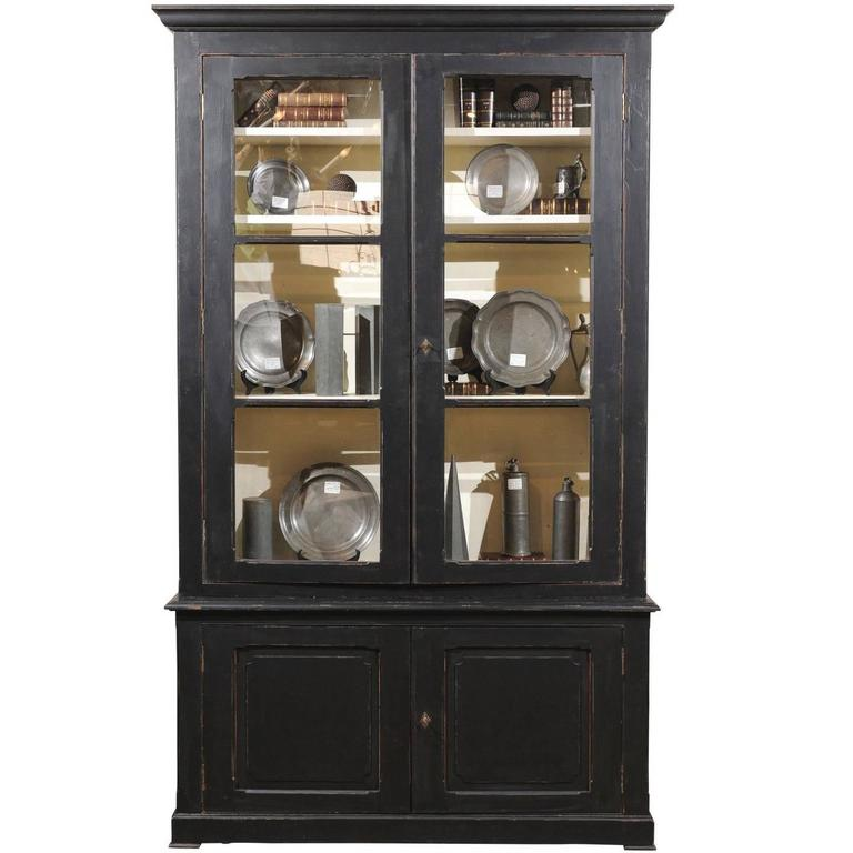 Antique Black Painted Bookcase, Circa 1900 For Sale At 1stdibs