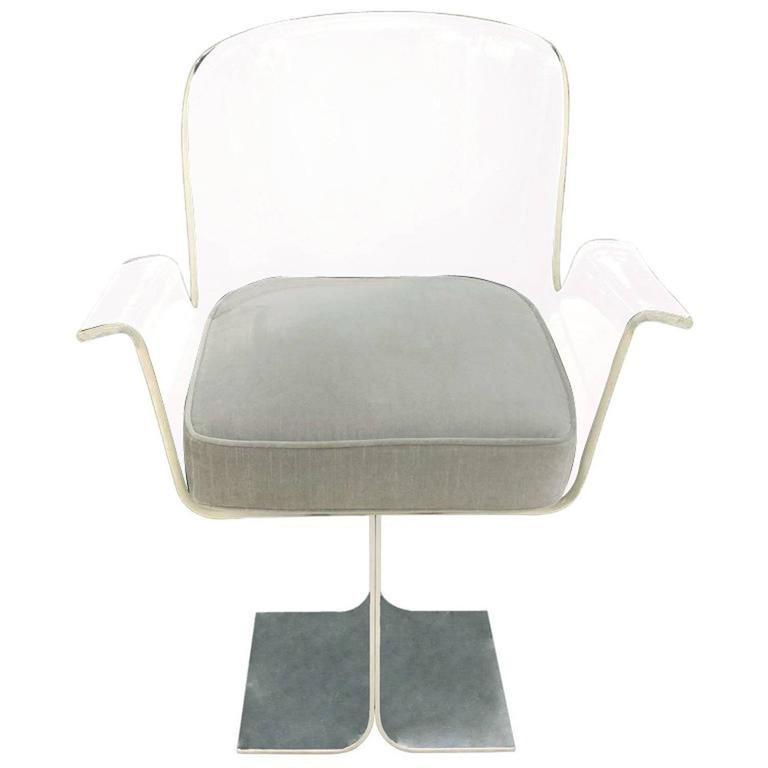 Pace Collection Swivelling Desk Chair, 1970s