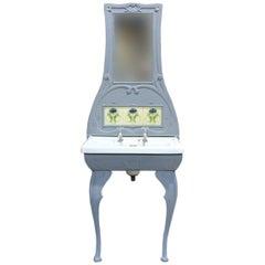 Art Nouveau Cast Iron Washstand