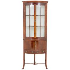 Mahogany Corner Cabinet with Georgian Influences
